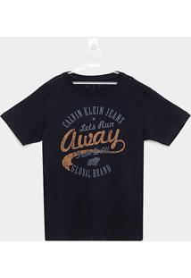 Camiseta Infantil Calvin Klein Run Away Masculina - Masculino