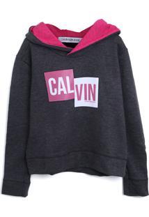 Casaco Calvin Klein Kids Menino Escrita Cinza