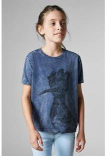 Camiseta Mini Sm Super Pica Pau Reserva Mini Masculina - Masculino-Azul Petróleo