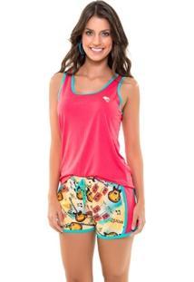 Pijama Recco Regata Recco De Viscose Stretch Com Visco Print - Feminino