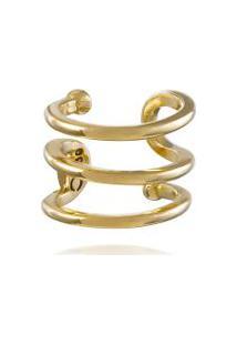 Earcuff Tri Ouro Amarelo - U