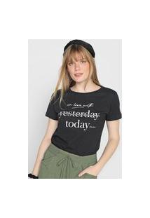Camiseta Polo Wear Lettering Preta