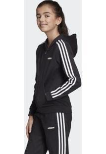 Jaqueta Infantil Adidas Com Capuz Feminina - Feminino-Preto