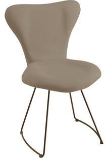 Cadeira Jacobsen Meia Lua Linho Cinza