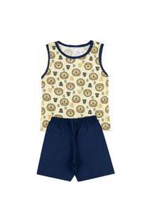 Pijama Regara Infantil Wild Life Amarelo 841 - Kappes