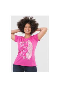 Camiseta Colcci Tropicalize-Se Rosa