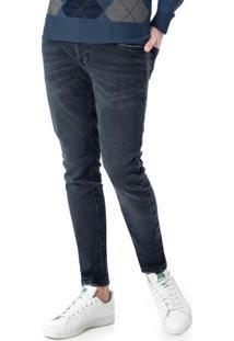 Calça Azul Escuro Skinny Jeans Stretch
