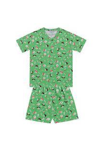 Pijama Com Camiseta E Bermuda Monstrinhos - Fkn Sleep We
