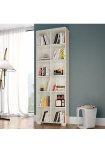 Estante Para Livros 100% Mdf A1 Off White - Dalla Costa