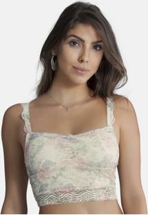 Top Cropped Em Renda Perle Duloren - Feminino