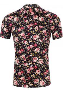 Camisa Estampada Masculina - Floral Xg