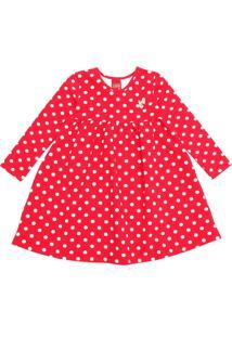Vestido Kyly Infantil Poás Vermelho