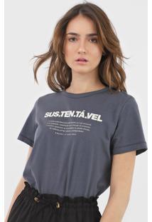 Camiseta Colcci Lettering Grafite - Kanui