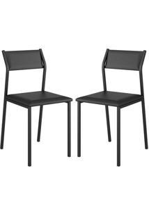 Cadeira 1709 Color Uv 02 Unidades Preta Carraro