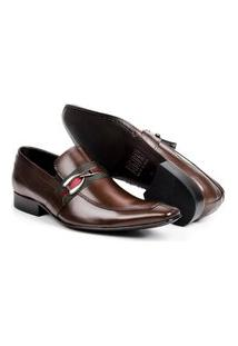 Sapato Social Aberdeen Masculino Solado De Couro Com Fivela