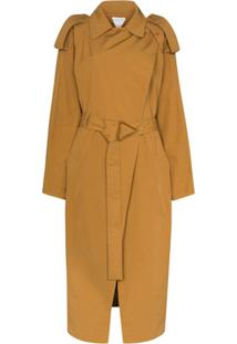 Bottega Veneta Belted Trench Coat - Marrom