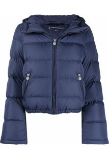 Perfect Moment Hooded Padded Jacket - Azul