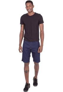 Bermuda Fatal Jeans Slim Confort Fit Azul