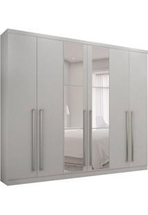 Guarda-Roupa Casal Com Espelho Kratos 6 Pt 6 Gv Branco
