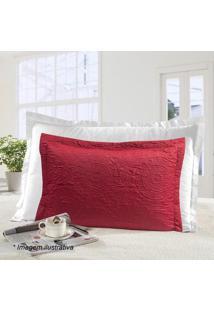 Porta Travesseiro Ultrasonic Mônaco- Vermelho- 70X50Sultan