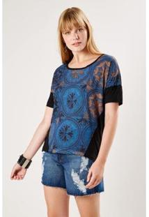 Camiseta Malha Est Sahara Sacada Feminina - Feminino