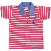 73061fa123 Camisa Polo Bebê Lápis De Cor Listrado Masculino - Masculino-Vermelho