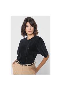 Camiseta Dudalina Oversized Preta