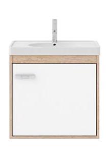 Gabinete De Banheiro Cerocha Com Lavatório 40Cm Berlin E Branco Capella