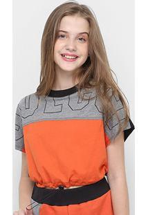 Blusa Infantil Colcci Fun Cropped Color Feminina - Feminino