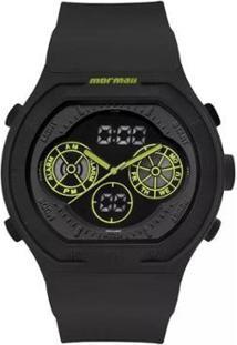 Relógio Mormaii Analógico/Digital Lumi Mo160323Ba8V Preto Masc - Unissex-Preto