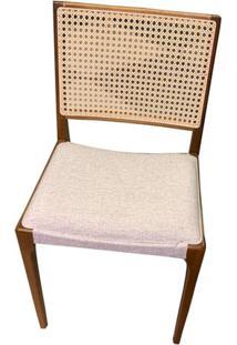 Cadeira Arpoador Mescla Com Tela Cru Base Amendoa - 50759 Sun House