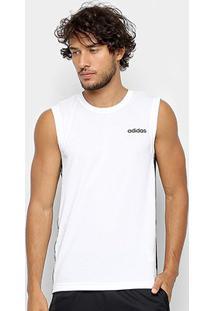 Regata Adidas D2M 3 Stripes Masculina - Masculino-Off White