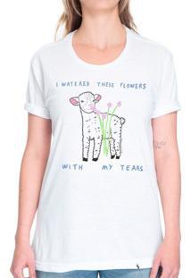 I Watered These Flowers With My Tears - Camiseta Basicona Unissex