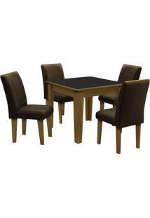 Conjunto De Mesa & Cadeiras Saint Michel Para 4 Lugares-Dobuê