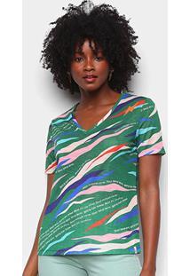Camiseta Cantão Classic Dançante Gola V Feminina - Feminino