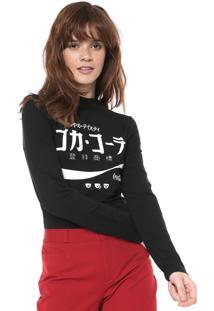 Camiseta Coca-Cola Jeans Aroma Estampada Preta