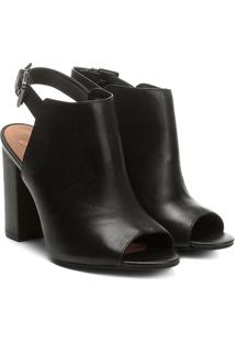 Ankle Boot Couro Jorge Alex Salto Grosso Feminina - Feminino