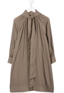 Unlabel Vestido Com Franzido Na Gola - Neutro