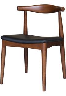 Cadeira Carina Sem Braco Cor Madeira Escura - 11490 - Sun House