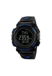 Relógio Skmei Digital -1290- Preto E Azul