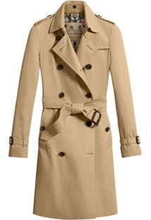 Burberry Trench Coat Com Abotoamento Duplo - Neutro
