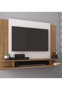 Painel Para Tv Até 42 Polegadas Com Nicho Ps300 Naturalle/Branco - Decibal Móveis