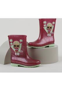 Bota Galocha Infantil Grendene Lol Surprise Com Glitter Pink