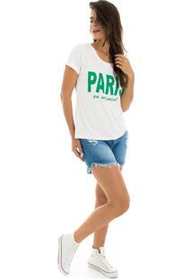 T-Shirt La Mandinne Paris Off White