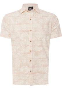 Camisa Aleatory Summer Masculina - Masculino-Bege