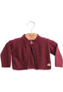 Casaco Jokenpã´ Soft Beb㪠Vinho - Vinho - Menina - Algodã£O - Dafiti