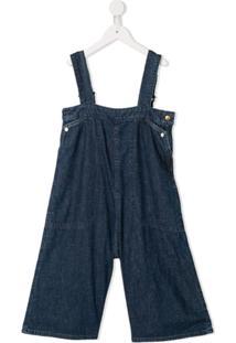 Go To Hollywood Jardineira Jeans - Azul