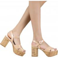 4454776f15 Betisa. Sandália Zariff Shoes Meia Pata Salto Grosso