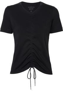 Camiseta Le Lis Blanc Wanda Ii Malha Algodão Preto Feminina (Preto, M)
