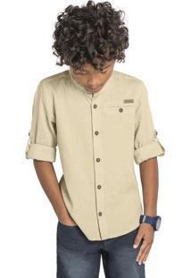 Camisa Infantil Bege